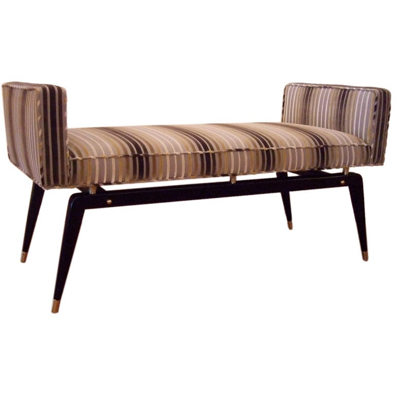 Ponti Style Bench With Arms At 1stdibs