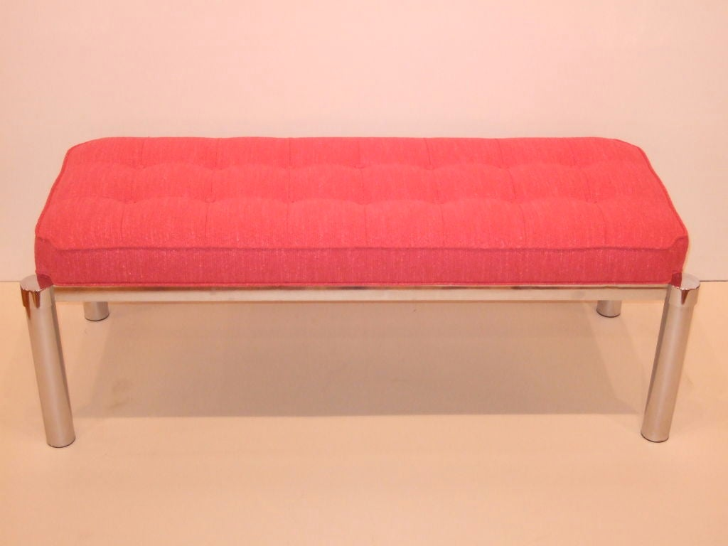 Pretty In Pink 4 Life Mid Century Bench At 1stdibs