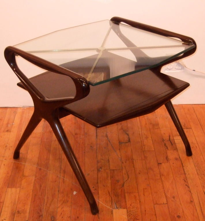 Mid-Century Modern Kagan Style Side Table For Sale