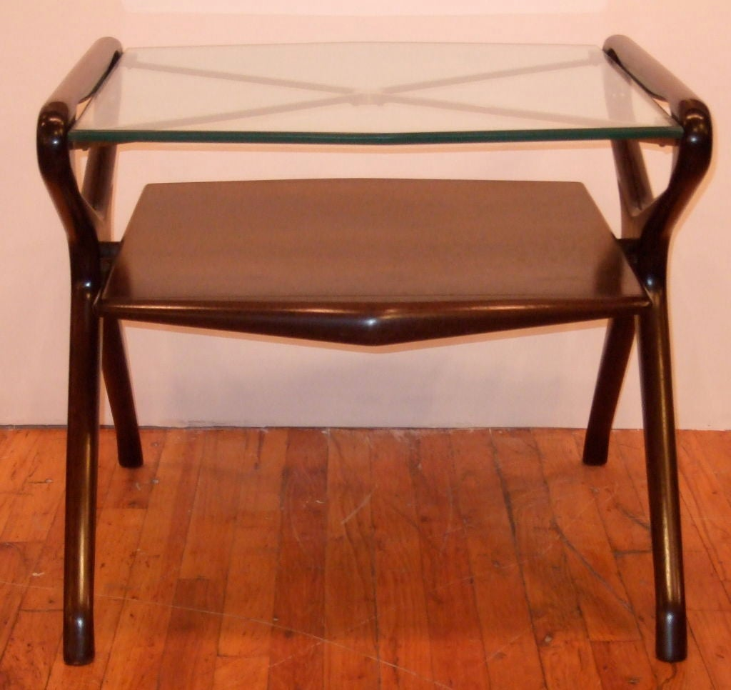 American Kagan Style Side Table For Sale