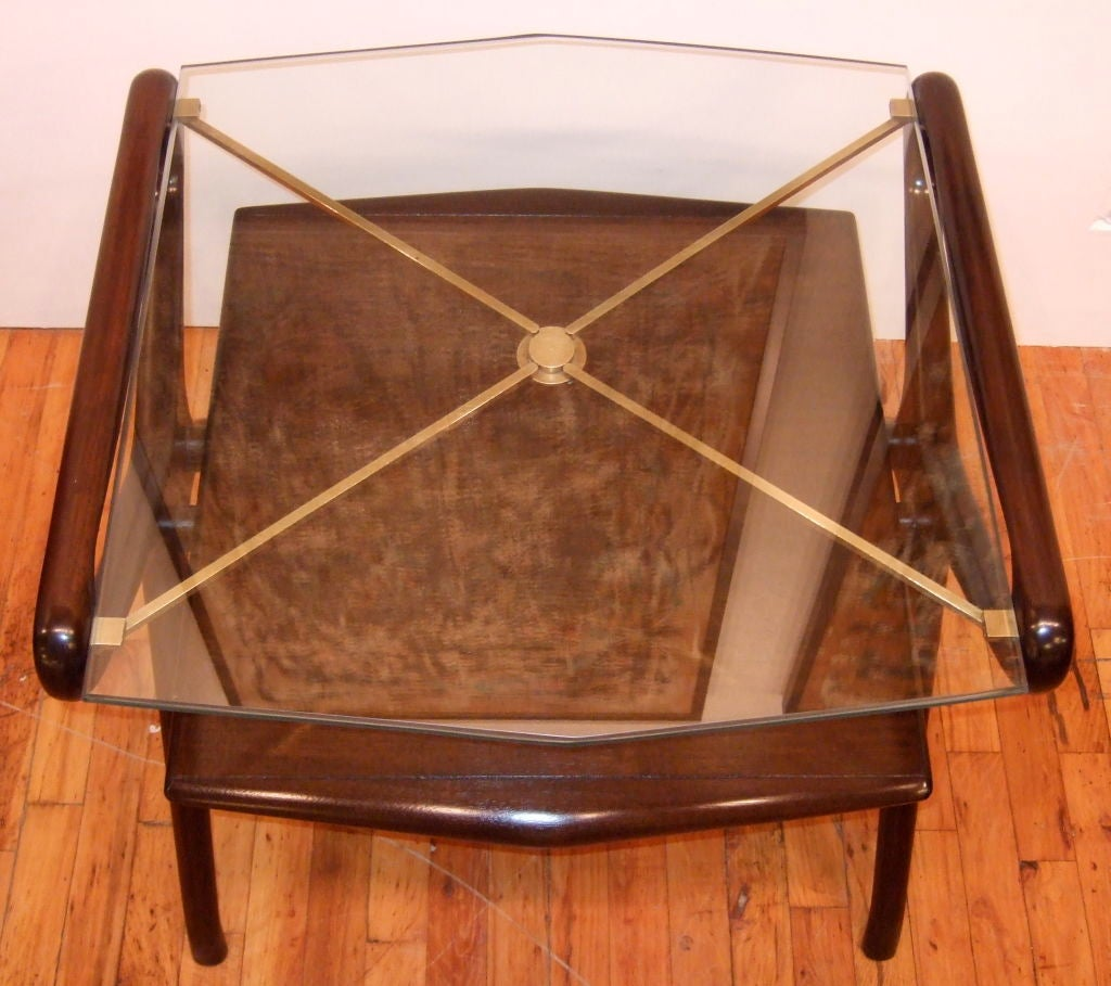 20th Century Kagan Style Side Table For Sale