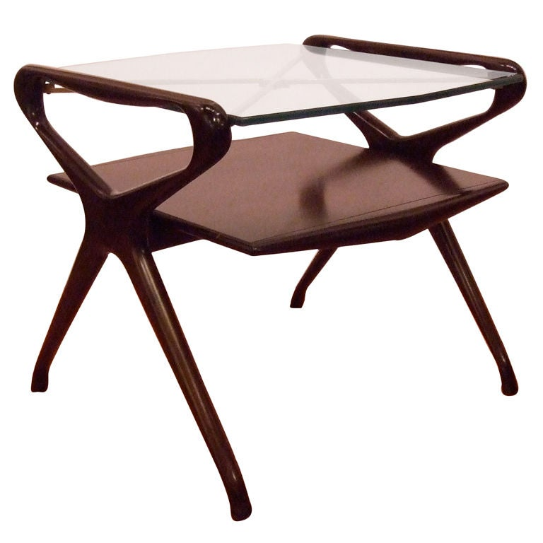Kagan Style Side Table For Sale