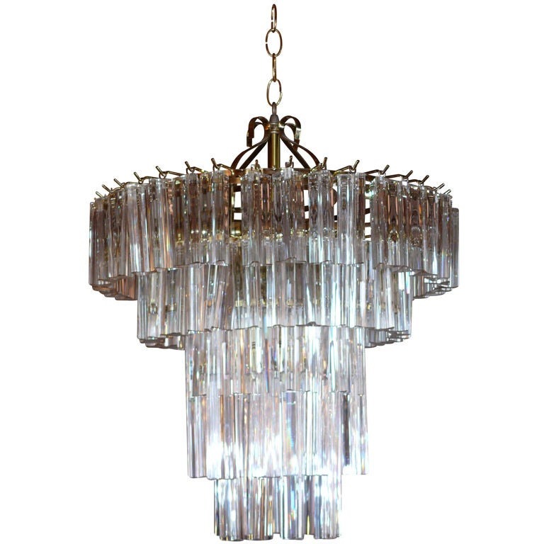 Tiered Venini Chandelier For Sale at 1stdibs