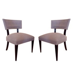 Pair of Sculptural Mid-Century Chairs