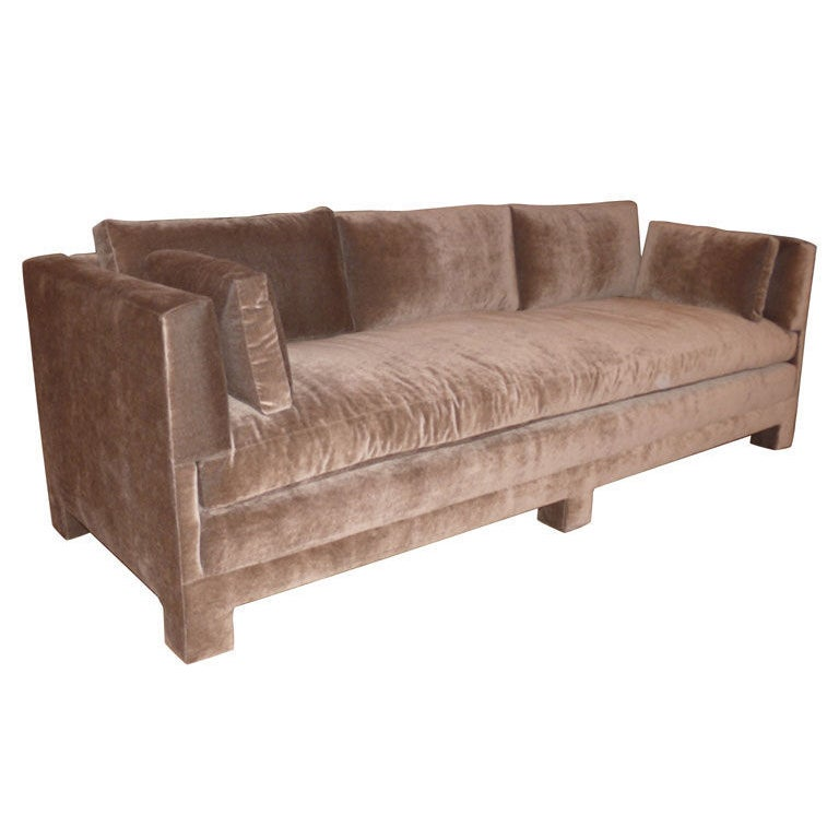 Billy baldwin style plush sofa at 1stdibs for Plush couch and loveseat