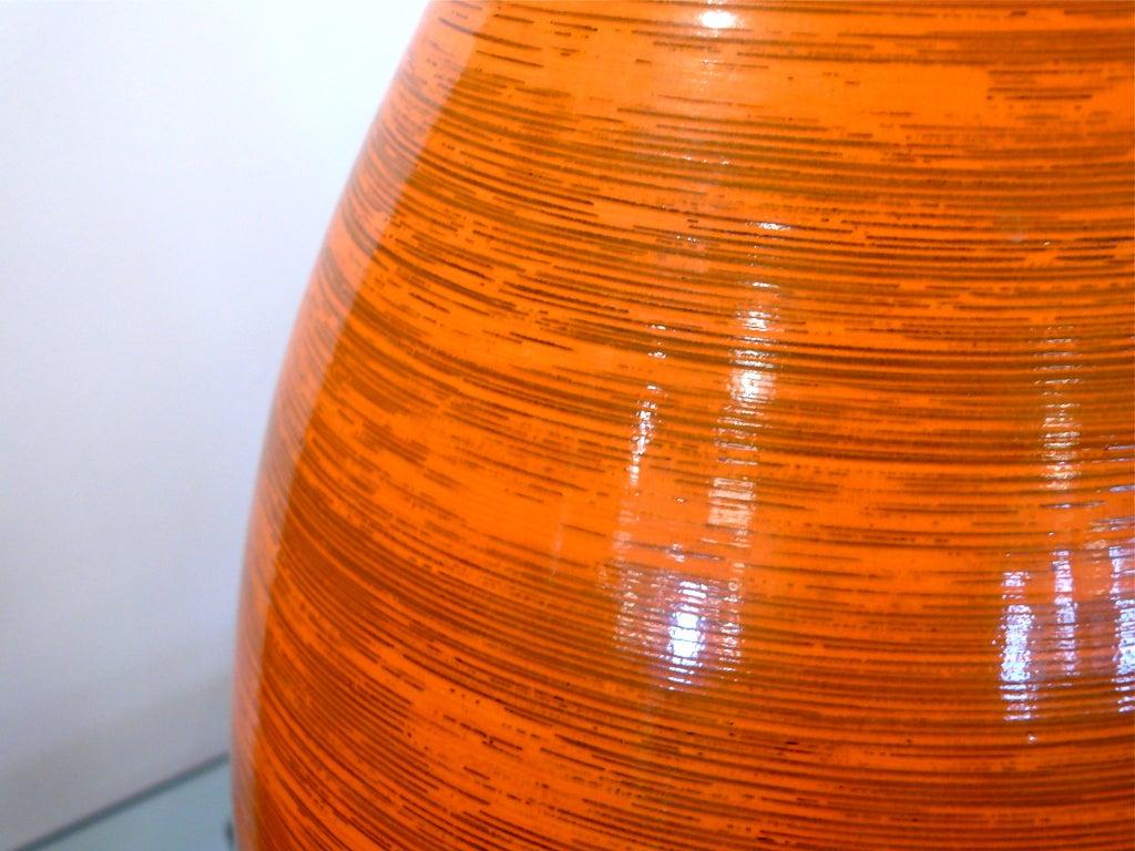 Tall Orange Ceramic Vase 4