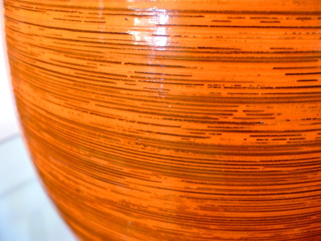 Tall Orange Ceramic Vase 5
