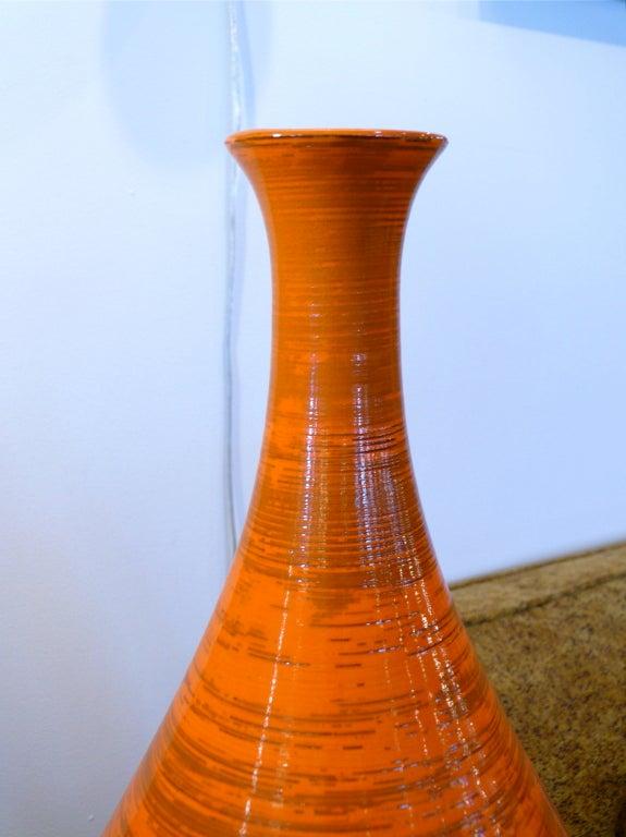 Tall Orange Ceramic Vase 6