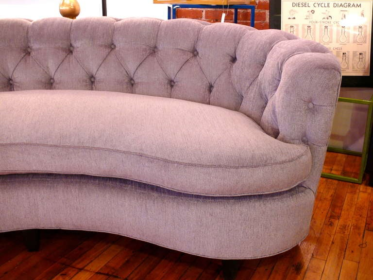 Sumptuous Curved Tufted Back Sofa At 1stdibs