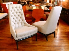 Pair of TH Robsjohn Gibbings Style High Back Diamond Chairs thumbnail 10