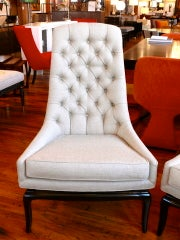 Pair of TH Robsjohn Gibbings Style High Back Diamond Chairs thumbnail 3