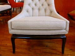 Pair of TH Robsjohn Gibbings Style High Back Diamond Chairs thumbnail 5