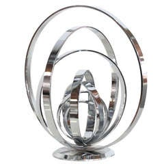 Chrome Armillary Sculpture