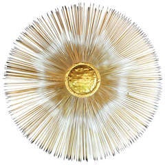 Sunburst Brass Sculpture