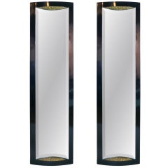 Pair of French Art Deco Full Length Mirrors