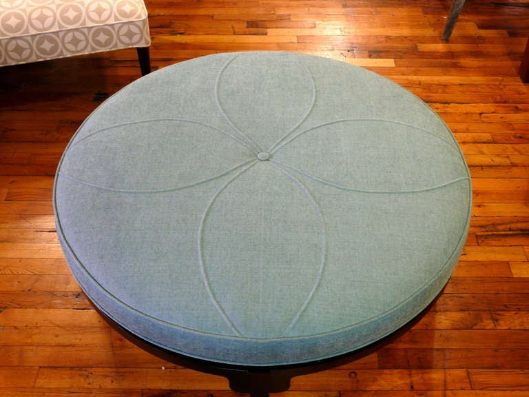 Art Deco Round Ottoman 6