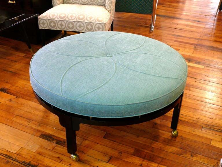 Art Deco Round Ottoman 9