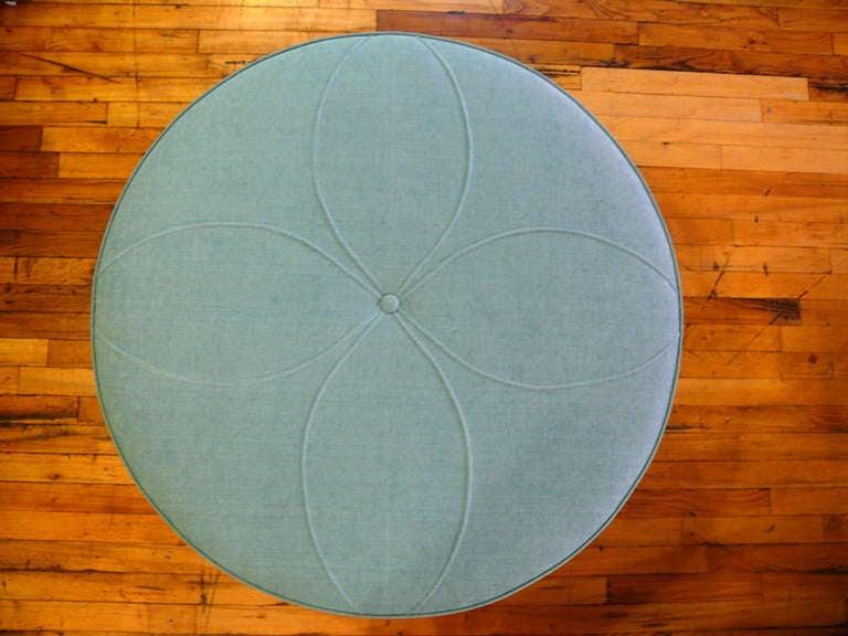 Art Deco Round Ottoman 10