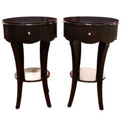 Pair of 1940s Scallop Edge Tables in the Manner of Grosfeld House