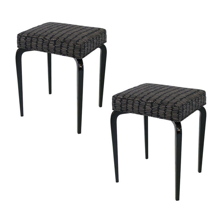 Pair Of Lacquered Bentwood Stools At 1stdibs