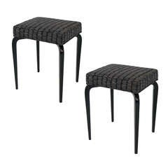 Pair of Lacquered Bentwood Stools