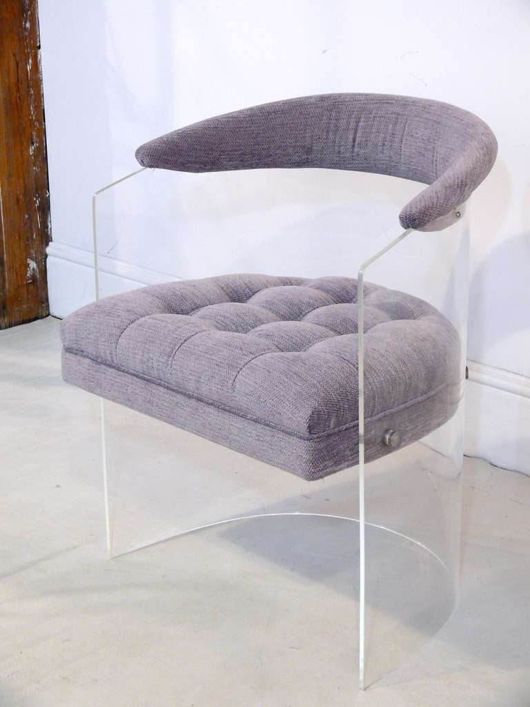 lucite barrel back chair at 1stdibs