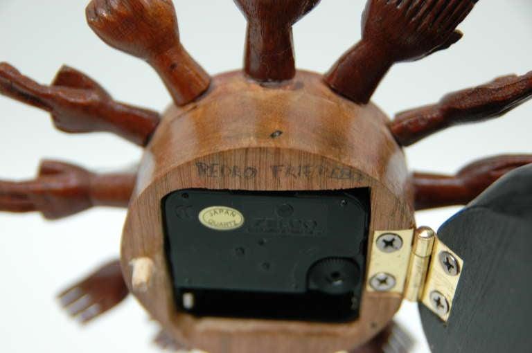 Pedro Friedeberg Egyptian Cat Clock For Sale 3