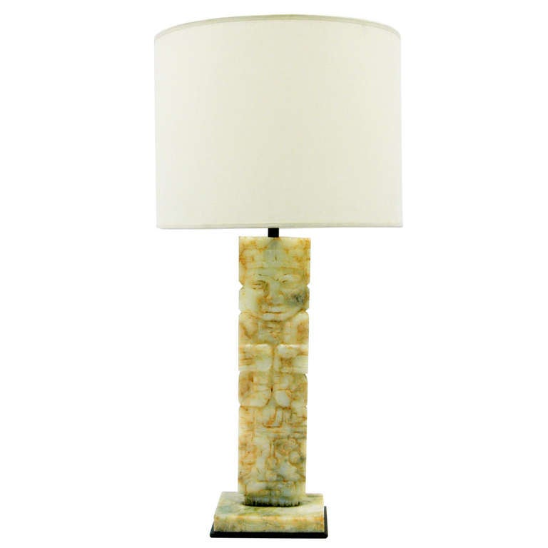 this table lamp with mayan design marble base is no longer available. Black Bedroom Furniture Sets. Home Design Ideas