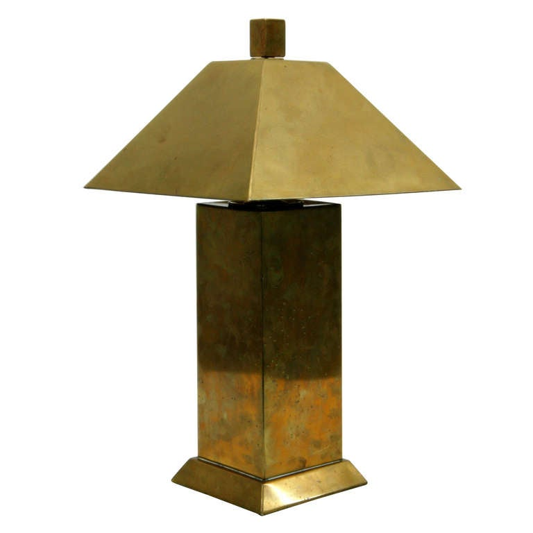 solid brass table desk lamp at 1stdibs. Black Bedroom Furniture Sets. Home Design Ideas