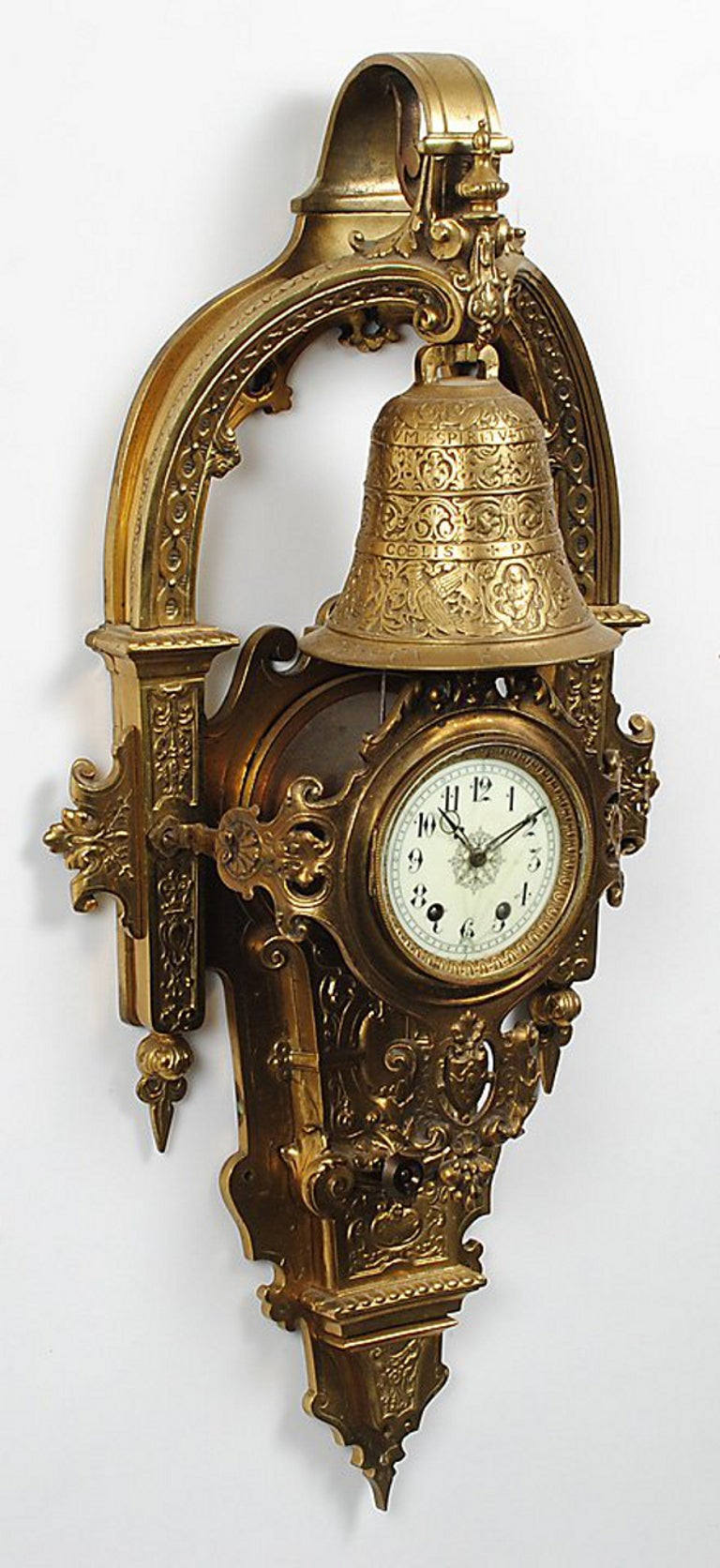 An impressively large Napoleon III period Cartel clock, the case with decoration combining elements of the fashionable Baroque & Renaissance Revival styles. The clock movement stamped 's. Marti' by the maker Samuel Marti et Cie of Paris, a