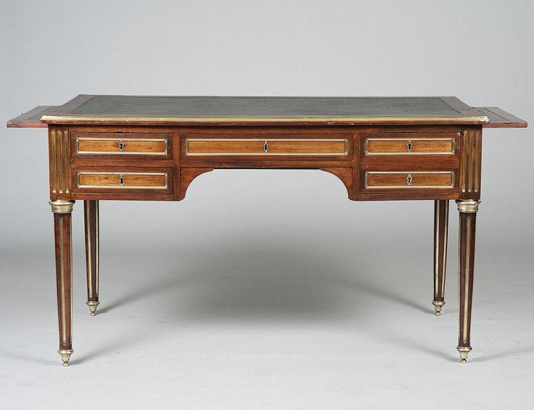 Neo Classical Style Writing Desk With Leather Top At 1stdibs