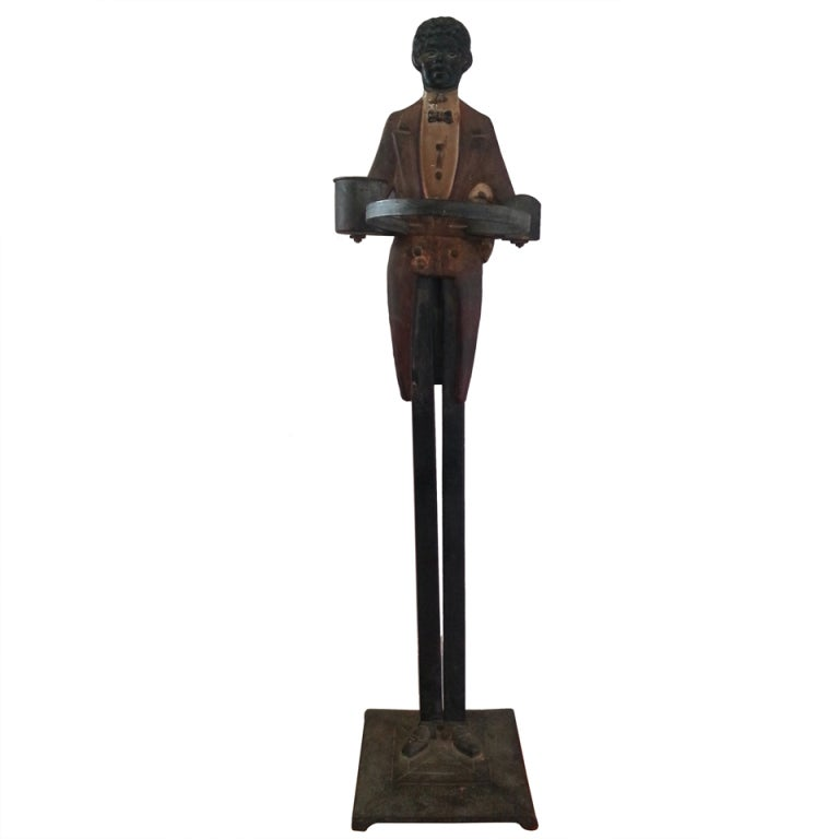 'Butler' Umbrella or Cane Stand in Painted Metal, Early 1900s