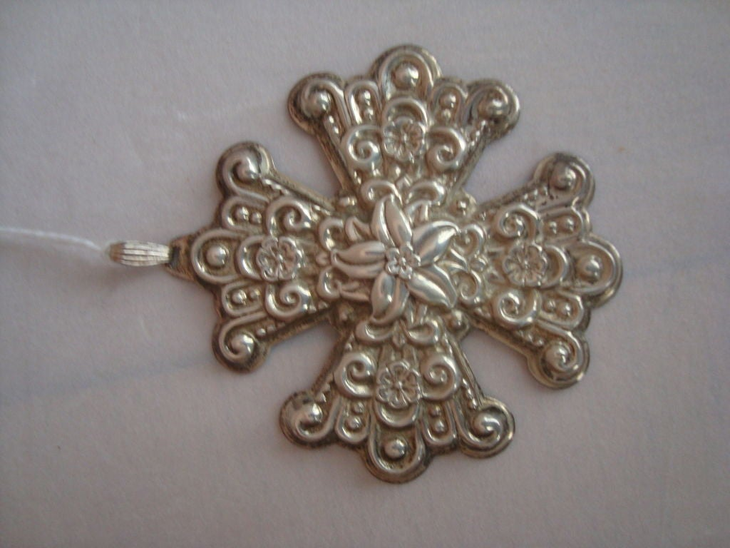 Reed and Barton Christmas Ornaments in Sterling Silver 6