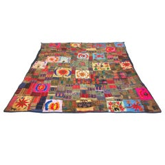 Unusual Quilt or Throw Rug