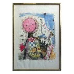 Framed Print Titled Festival, Signed and Dated