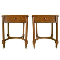 Refined Pair of French Bedside or End Tables
