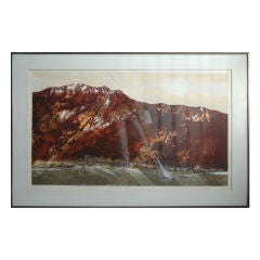 Print by Bradford Titled Mountain Edge One