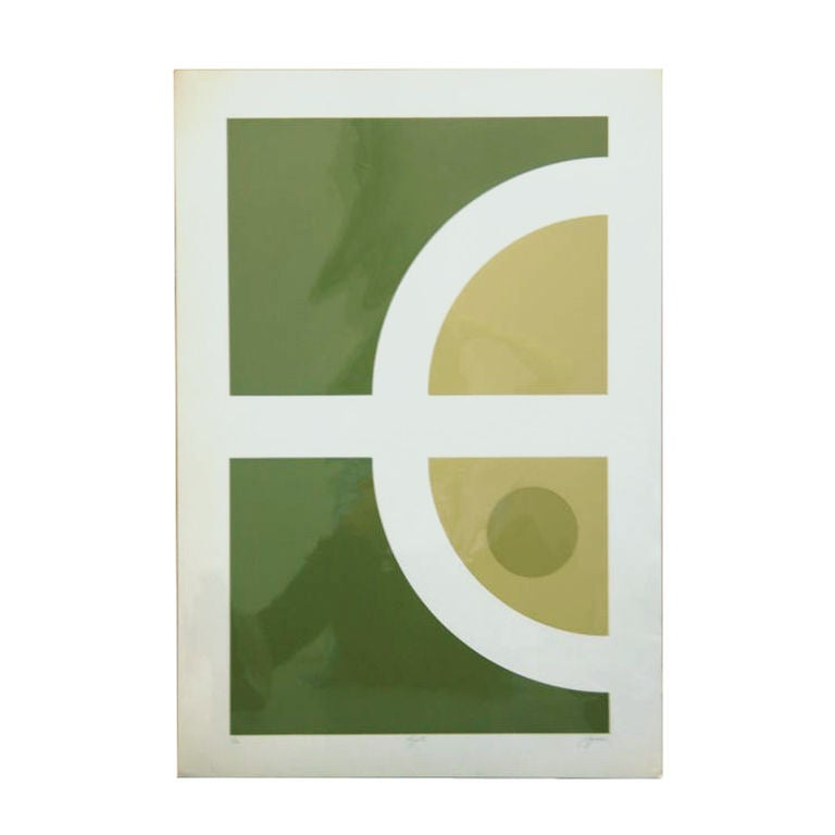 A print signed Squeri, numbered 1/20, and titled Kyoto, reminiscent of the work of Verner Panton.