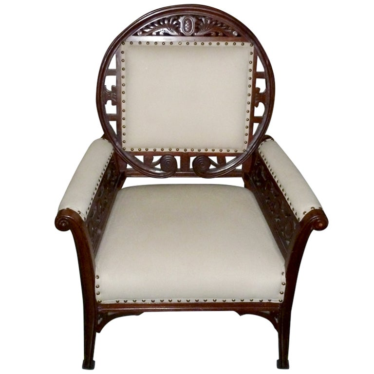 American Aesthetic Movement Arm Chair At 1stdibs
