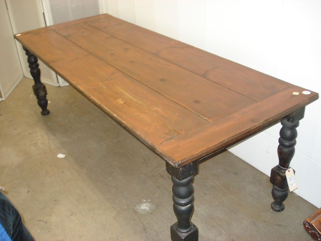 American Farmhouse Dining Table in Natural amp Painted Pine  : 807613184414962 from 1stdibs.com size 1024 x 768 jpeg 73kB