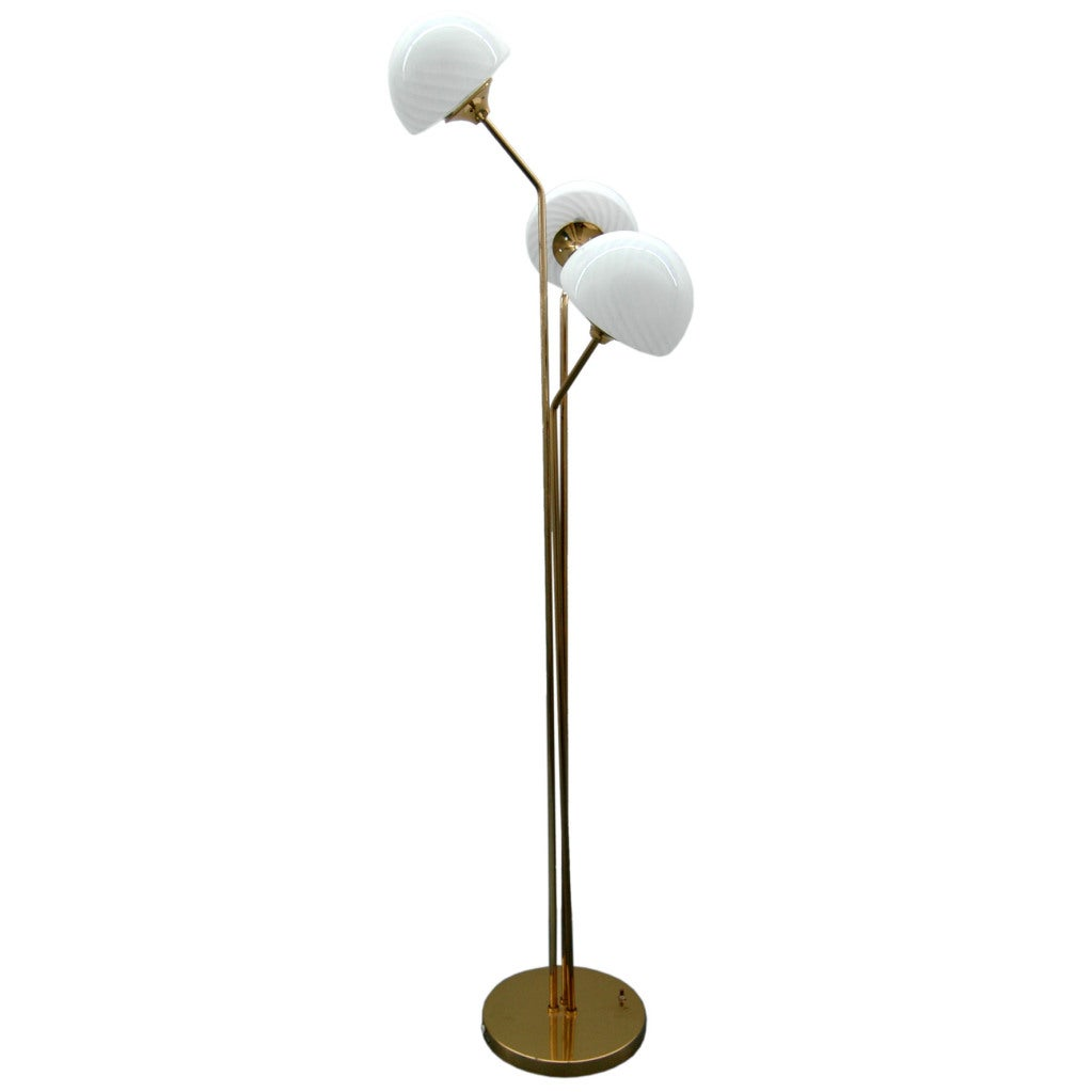 mid century floor lamp with murano glass shades at 1stdibs. Black Bedroom Furniture Sets. Home Design Ideas