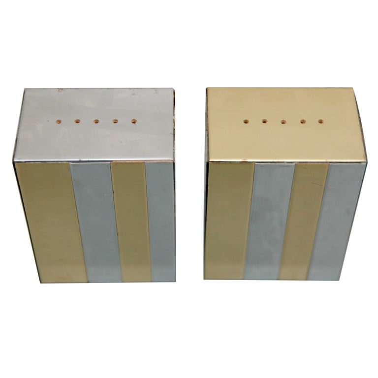 Pair of Cityscape Incense Holders