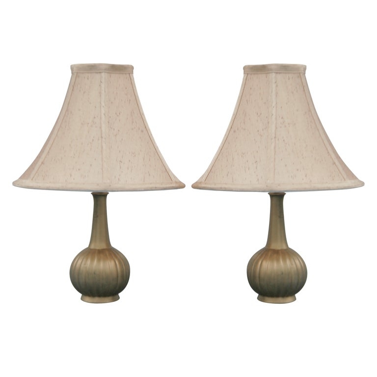 Pair of Danish Table Lamps by Just Andersen