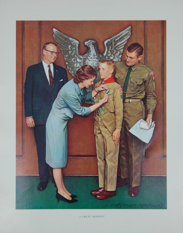 Set of five prints after Norman Rockwell 2