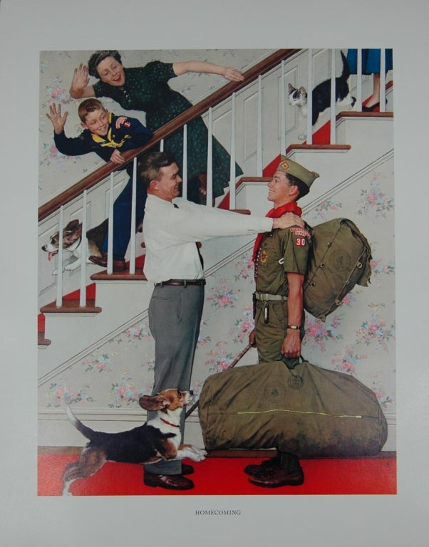 Set of five prints after Norman Rockwell 5