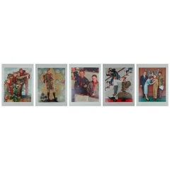 Set of five prints after Norman Rockwell