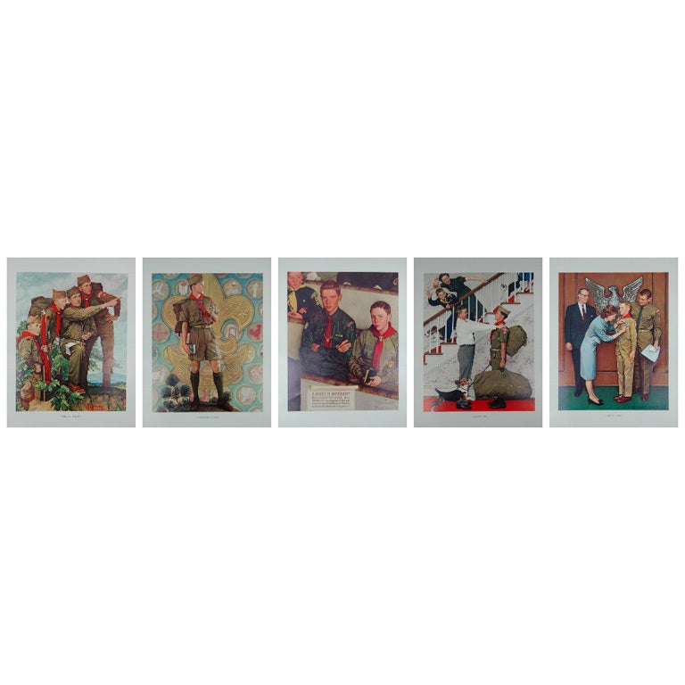 Set of five prints after Norman Rockwell 1