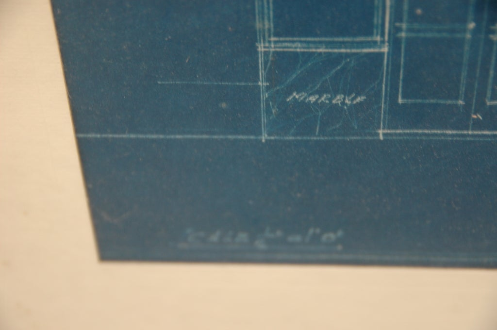 20th Century Theatre Entrance Blueprint Signed by Thomas Lamb For Sale
