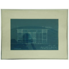 Theatre Entrance Blueprint Signed by Thomas Lamb