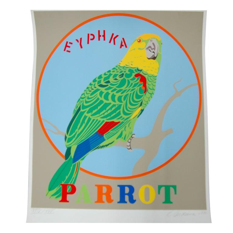 """Robert Indiana """"Parrot"""" Screen Print"""